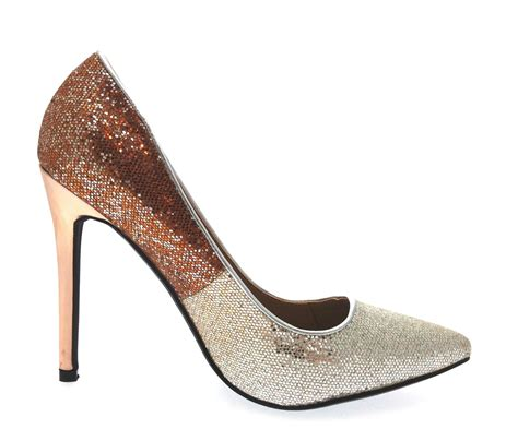 two tone high heels womens glitter high heels two tone stiletto court shoes