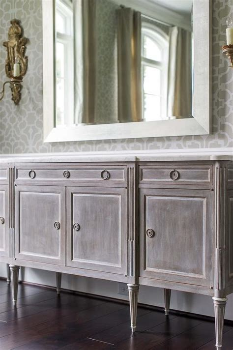 white mirrored buffet cabinet gray distressed french buffet cabinet french dining room