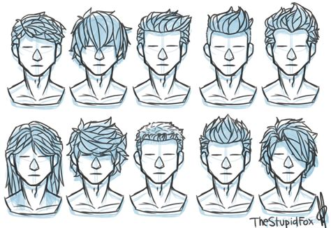 hairstyles drawing male random hairstyles male by thestupidfox on deviantart