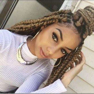 honey blonde and black boxbraids hairspiration blond box braids twists un ruly