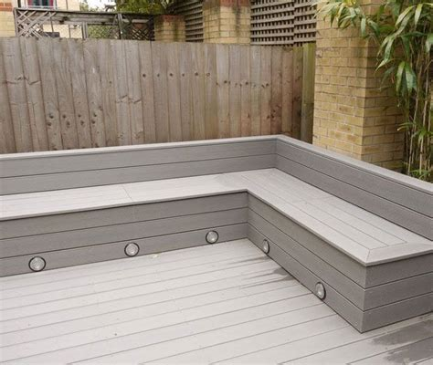 deck bench seating ideas michael greenall decking in poole corner seating with