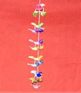 wall door hanging birds jhumar long