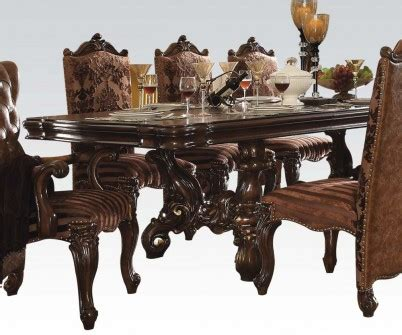 Cherry Oak Dining Table Acme Versailles Pedestal Dining Table In Cherry Oak 61100 Special By Dining Rooms Outlet