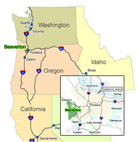 where is beaverton oregon on the map beaverton chamber of commerce 187 education