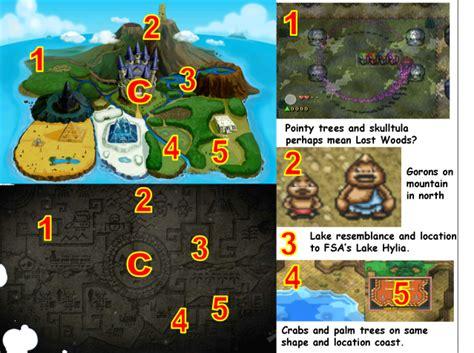 legend of zelda map comparison theorizing spirit tracks geography zelda dungeon
