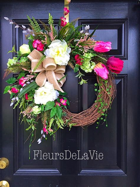 how to make a spring wreath for front door 17 best ideas about summer door wreaths on pinterest