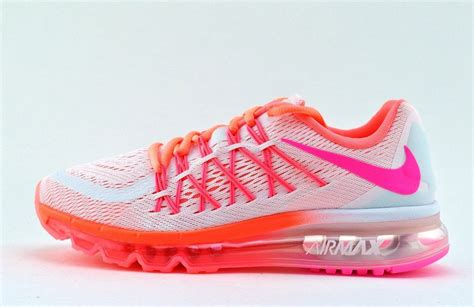 pink pattern air max nike air max 2015 gs 705458 101 white pink pow hot lava