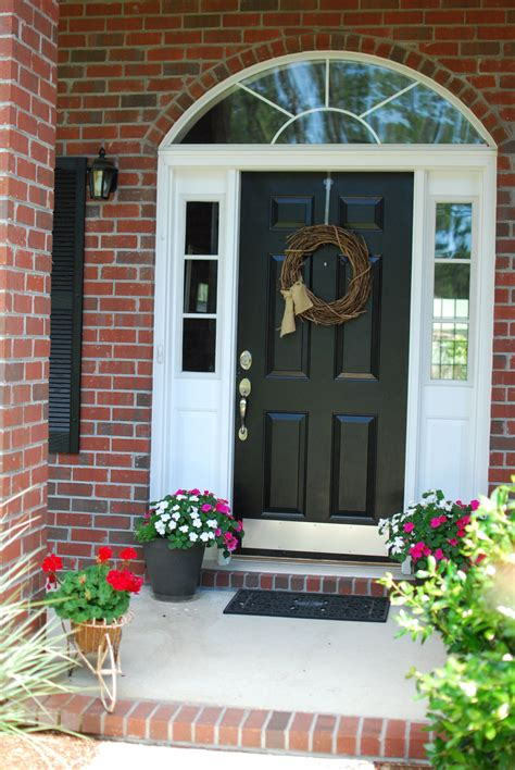 plain front door painted black painted front doors