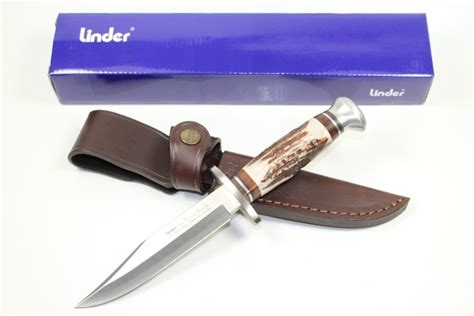 stag handle bowie knife linder bowie knife stag handle 5 1 quot german knife shop