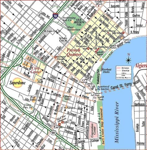 printable french quarter new orleans maps images and places pictures and info new orleans map