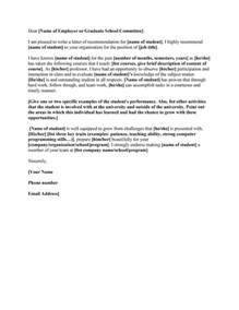 school letter of recommendation template 43 free letter of recommendation templates sles
