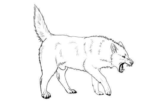 angry wolf coloring page angry wolf coloring