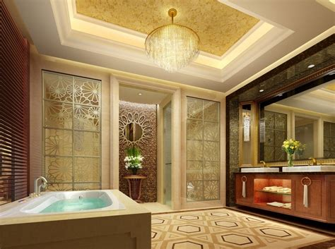 Luxury Bathroom Interior Design by Luxury Bathroom Five Hotel By European Style 3d