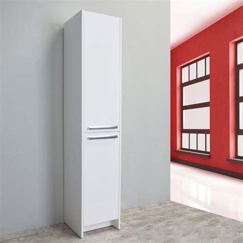 modern bathroom linen cabinets eviva lugano 16 quot white modern bathroom linen side cabinet storage decors us