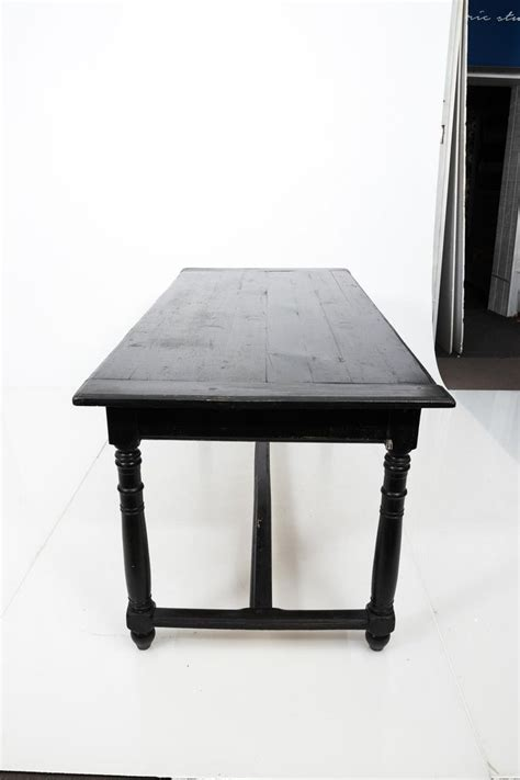 black painted french country dining table circa