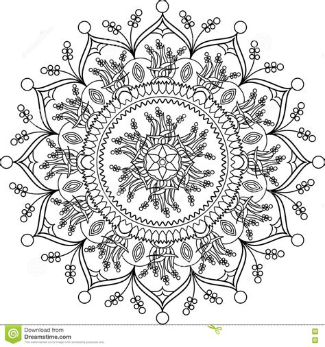 relax color mandalas coloring book for adults relaxation stress relief coloring books books coloring page mandala with flowers stock vector