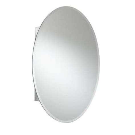 croydex 31 in x 21 in oval recessed or surface mount