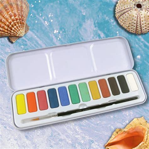 Derwent Watercolour Pencil Set 12 derwent academy watercolor pencils pan set 12 count 2301955 wood colored