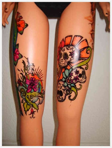 99 Spicy Thigh Tattoos And Designs For Girls Tattoos For Thighs Designs