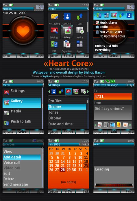 mobile heart themes nokia 5130 mobile heat blog spot nokia s40 theme heart core