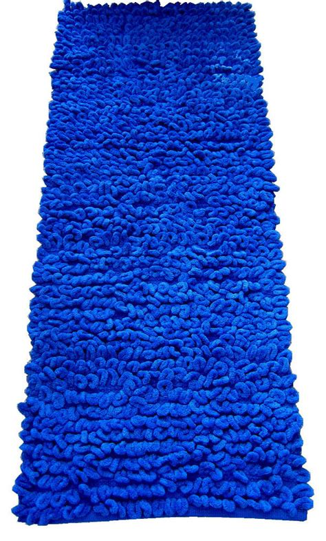Blue Runner Rug Blue Rug Blue Runner Chenille Jumbo Loop Runner Bathroom Mat Bedroom Rug Ebay