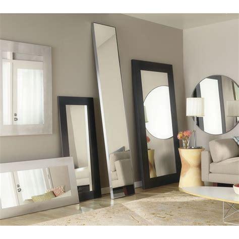 manhattan modern leaning mirrors  natural steel modern