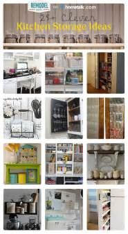 easy kitchen storage ideas remodelaholic 25 clever kitchen storage ideas