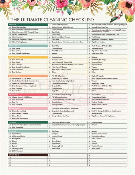 printable house cleaning checklist template search results for printable house cleaning checklist