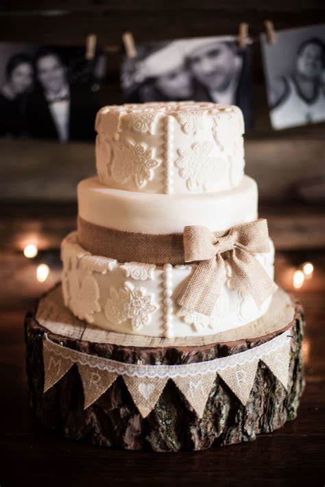 Wedding Cake Ideas Rustic by 45 Chic Rustic Burlap Lace Wedding Ideas And Inspiration
