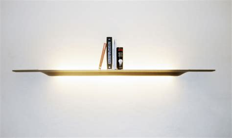 Wall Shelf With Light by Quot Plyght Quot Wooden Wall Shelf With Lighting Ideas By Joeri