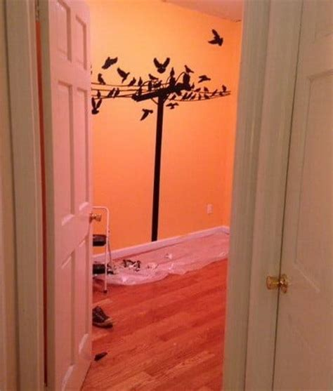 how to make a diy wall mural painting removeandreplace