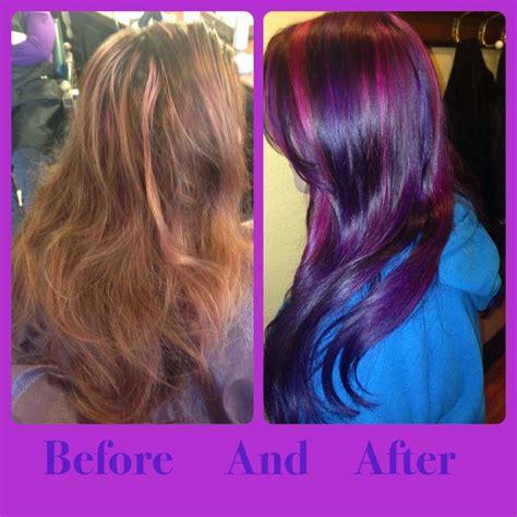 pravana magenta hair color amazing hair color transformation pravana violet magenta