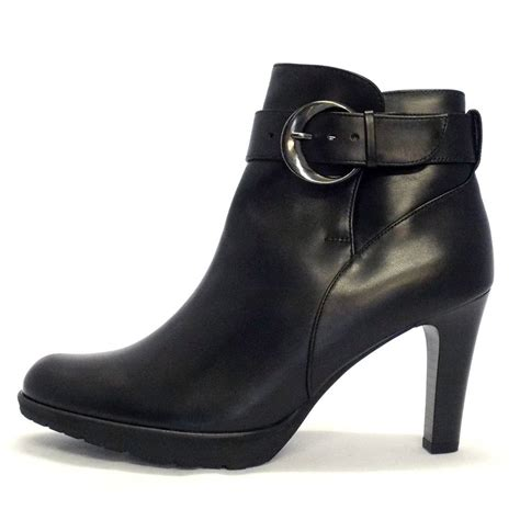 heeled boots kaiser elta black leather stiletto heel ankle boots