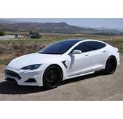 White Tesla Model S With Larte Design Elizabeta Kit Looks Bad Boy