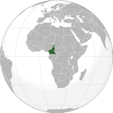 cameroon in world map location of the cameroon in the world map