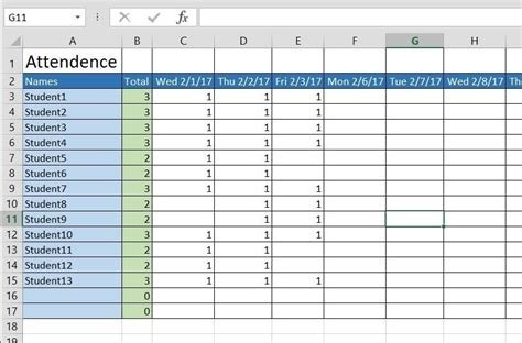 Show Me A Spreadsheet by How To Create A Basic Attendance Sheet In Excel