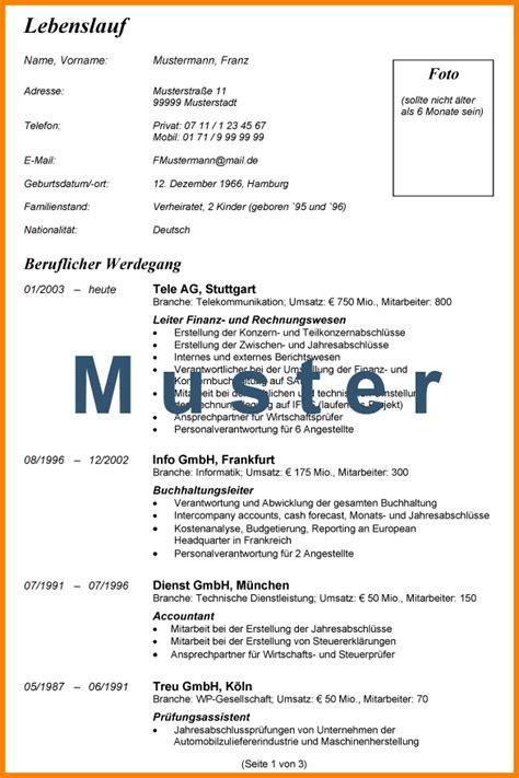 Lebenslauf Pdf 10 Lebenslauf Muster Pdf Resignation Format