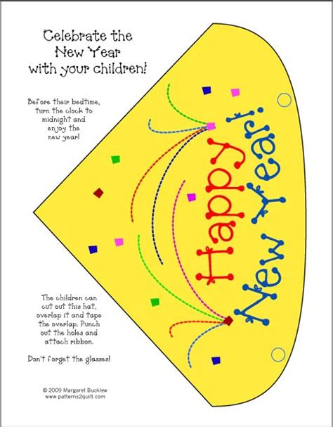 new year hat template search results for new years hat printable template