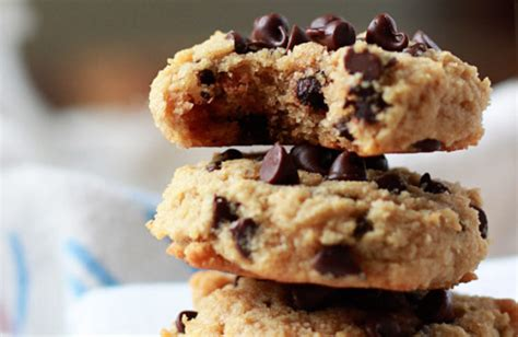 Choco Almond Cookies almond flour chocolate chip cookies kitchen treaty