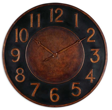 36 inch matera metal wall clock cabin decor western decor