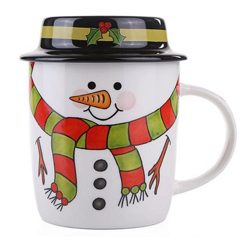 best ceramic mugs amazing cartoon snowman ceramic christmas mug set creative