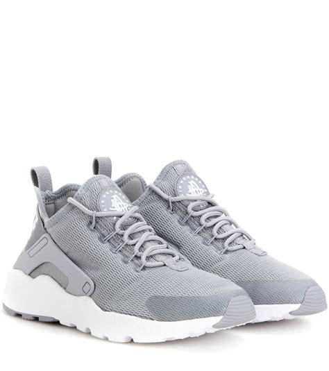 nike huarache run sneaker nike air huarache run ultra sneakers in gray lyst