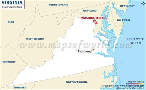 map of virginia and maryland usa blank map of virginia virginia outline map