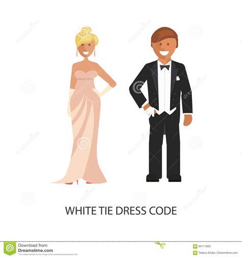Dress Code 231 White white tie dress code stock vector image of business 94111820