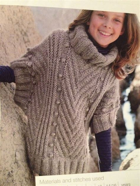 knitting pattern poncho sweater girls knitted poncho sweater knitting pattern