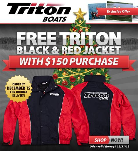 tow boat us coupon code triton boats online store free jacket offer
