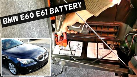 battery bmw e60 bmw e60 e61 battery replacement without programming 525i