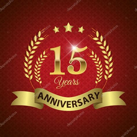 15 in years 15 years anniversary seal stock vector 169 harshmunjal 59522529