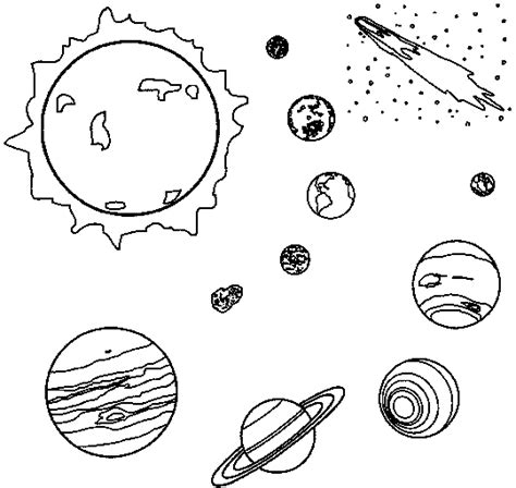 planets coloring page with the sun homeschool love