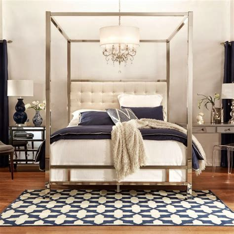 mirrored canopy bed south shore decorating blog huge giveaway from inspire q 4 poster mirrored bed 900
